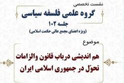 هماندیشی در باب قانون و الزامات تحول در جمهوری اسلامی ایران