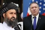 امریکی وزیر خارجہ اور طالبان دہشت گڑد تنظیم کے رہنما ملا برادر کے درمیان گفتگو