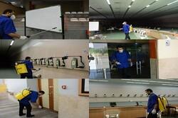 سالن ها و فضاهای فدراسیون تیراندازی ضد عفونی شد