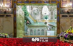 تنسیق الزهور الجمیلة داخل حرم الإمام رضا (ع) / فيديو