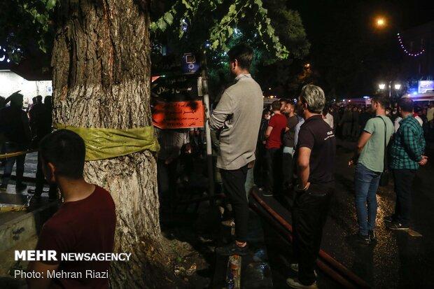 آتش سوزی و انفجار در درمانگاه «سینا اطهر» خیابان شریعتی