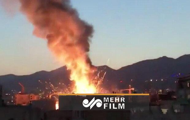 Tahran'daki patlamadan görüntüler