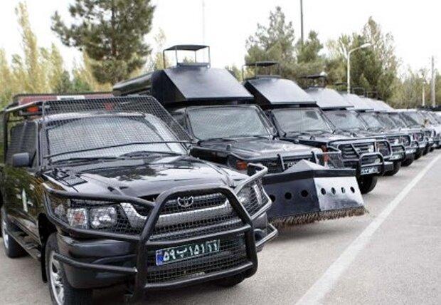 کاهش تصادفات برون شهری/ناوگان جدید خودرویی پلیس گلستان رونمایی شد
