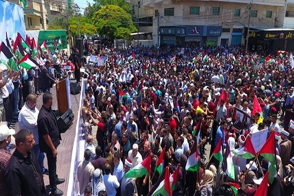 Palestinians hold rally in Gaza against Israeli annexation of West Bank