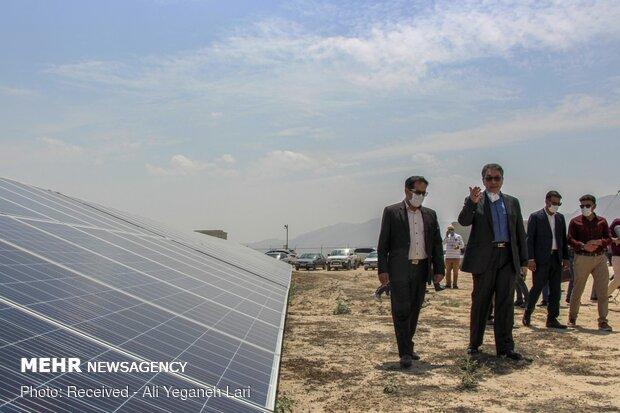 Solar power plant inaugurated in Larestan