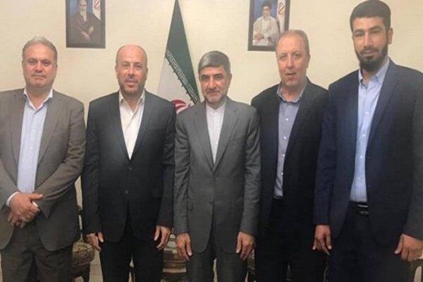 وفد حماس يلتقي السفير الايراني في لبنان ويؤكد ان المقاومة لن تسمح بتمرير خطة الضم