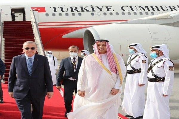 ترکی کے صدر اردوغان قطر پہنچ گئے