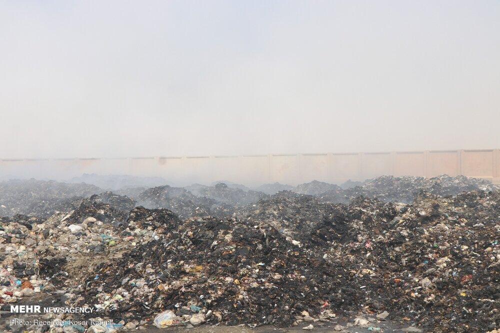 آتشسوزی سایت زباله صفیره اهواز