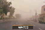 لحظه رسیدن طوفان گردوخاک به شهر ایرانشهر در سیستان وبلوچستان!