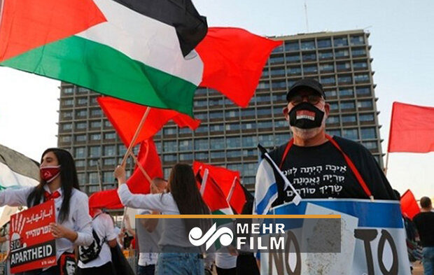 تظاهرات مقابل سفارت رژیم صهیونیستی در واشنگتن