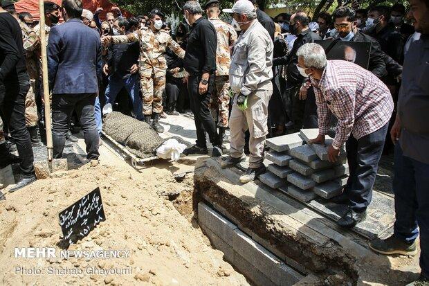 مراسم تشییع و خاکسپاری پیکر مرحوم سیروس گرجستانی