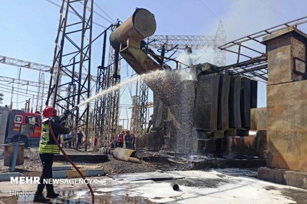 انفجار أحد محولات الكهرباء في مدينة الأهواز جنوبي إيران