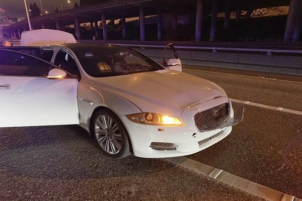 VIDEO: Car hits protesters on Seattle highway