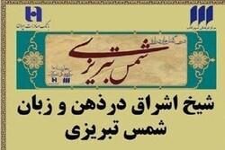 نشست شیخ اشراق در ذهن و زبان شمس تبریزی برگزار میشود