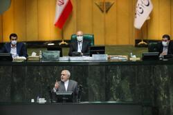 ظريف في مجلس الشورى الإسلامي / صور