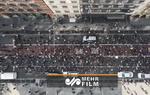 تصاویر هوایی اعتراضات سراسری در نیویورک آمریکا