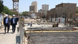 مترو تبریز در ایستگاه بیتدبیری/پروژه شهری لنگ حمایت است