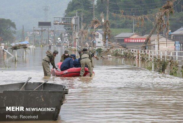 جاپان میں طوفانی بارشوں اور سیلاب سے 50 افراد ہلاک