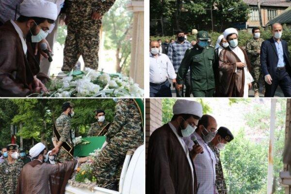 پیکر پاک شهید مدافع حرم «محمد احمدی» در دماوند به خاک سپرده شد