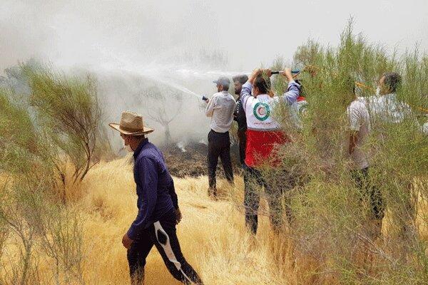 فوت یک امداد گر در عملیات اطفای حریق جنگل های چهارمحال وبختیاری