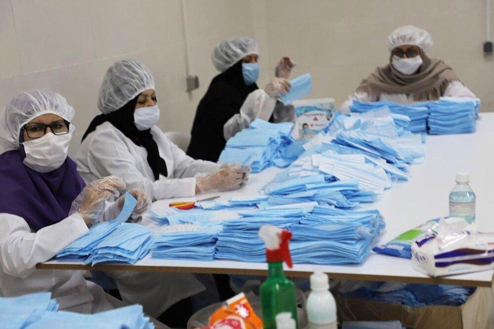 تولید ۲۲ میلیون قلم کالای بهداشتی توسط خیران حرمساز