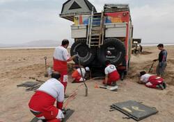 نجات توریستهای اسلواکی از شن های حوض سلطان