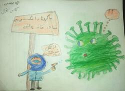 نقاشی کرونا برای بزرگسال
