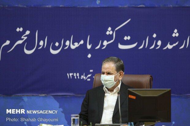 ایران کے نائب صدر سے وزارت داخلہ کے اہلکاروں کی ملاقات