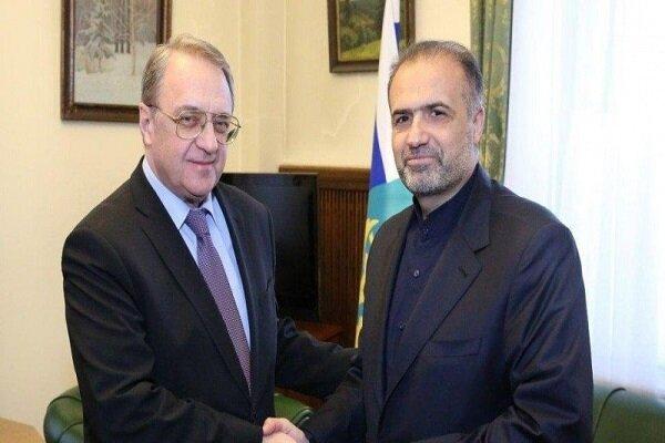 سفير ايران في موسكو يبحث مع المندوب الخاص للرئيس الروسي الاوضاع في سوريا