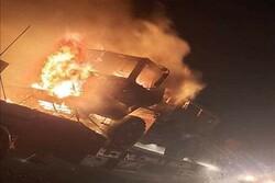 حمله به کاروان نظامی آمریکا در دیوانیه عراق/هدف قرار گرفتن کامیونهای حمل زره پوش