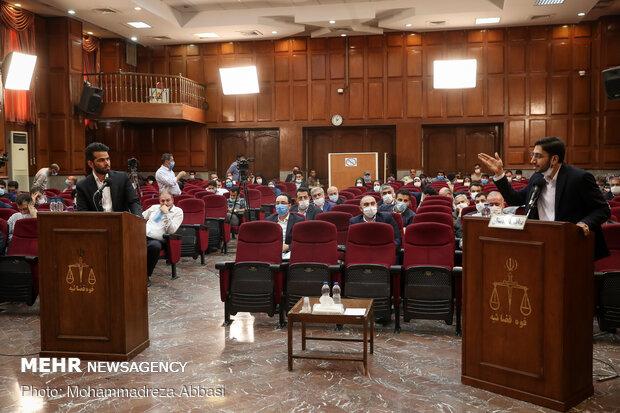 گفتگو مسعود شامحمدی نماینده دادستان و امید اسد بیگی مدیرعامل شرکت کشت و صنعت هفت تپه