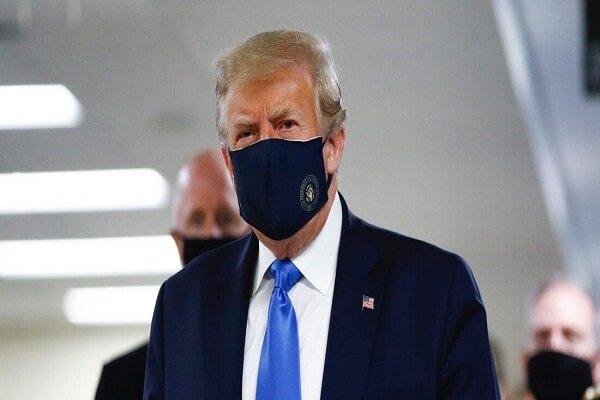 ترامپ بالاخره با ماسک کنار آمد