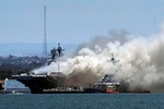 شمار مجروحان آتشسوزی در ناو آمریکایی به ۵۷ نفر رسید