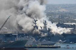 ABD savaş gemisindeki yangın günler sonra söndürüldü