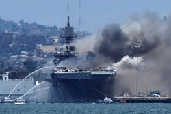 Fire, explosion on US naval ship injures at least 21