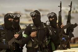 کماندوهای ورزیده با بهترین سلاح ها در یگان دریایی حماس