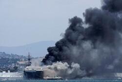 انفجار سفينة حربية أميركية في قاعدة بحرية بكاليفورنيا