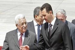 «محمود عباس» برای «بشار اسد» پیام ارسال کرد