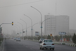 Dusty air of Qom on Monday