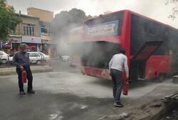 اتصال سیم کشی موتور اتوبوس شرکت واحد در تبریز حادثه آفرید