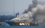 جهنمی از آتش در ناو آمریکایی
