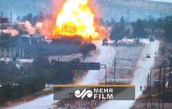 انفجار مهیب در مسیر گشت مشترک روسیه و ترکیه