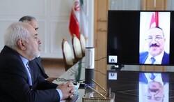 ظريف يناقش مع نظيره بحكومة الانقاذ الوطني التطورات في اليمن