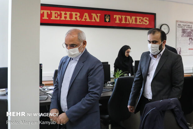 Minister of Education visits Mehr News Agency