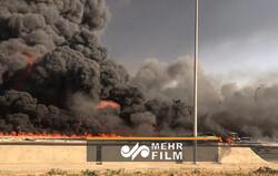 مصر میں تیل پائپ لائن میں خوفناک آگ لگ گئی