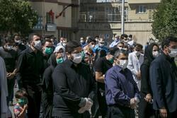 تبریز کے سینا اسپتال میں شہید خدمت کی تشییع جنازہ