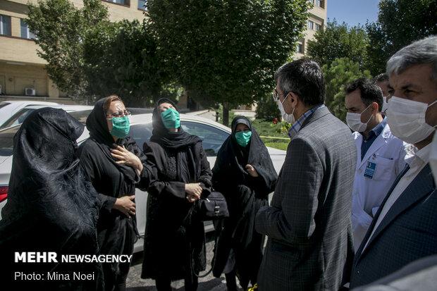 تشییع اولین شهید خدمت بیمارستان سینای تبریز
