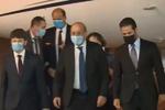 استقبال رسمی از وزیر خارجه فرانسه درفرودگاه بین المللی اربیل عراق