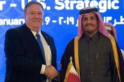وزرای خارجه آمریکا و قطر درباره تحولات منطقه گفتگو کردند