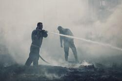 ہمدان میں قاسم آباد کے کھیتوں میں لگي آگ کو بھجا دیا گیا